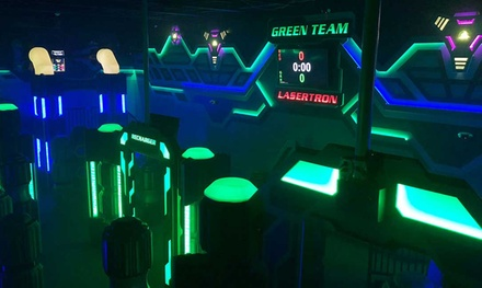 Two 6-Minute Sessions of Galaxy Warz Ultimate Laser Tag for Two, Four, or Six People at Pinballz (Up to 50% Off)