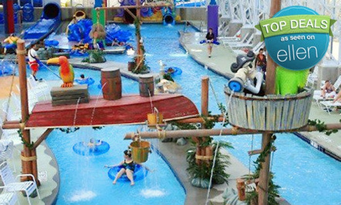 Big Splash Adventure Indoor Water Park & Resort - Evansville: $140 for One-Night Resort Stay for Four at Big Splash Adventure Indoor Water Park & Resort in French Lick (Up to $276.44 Value)