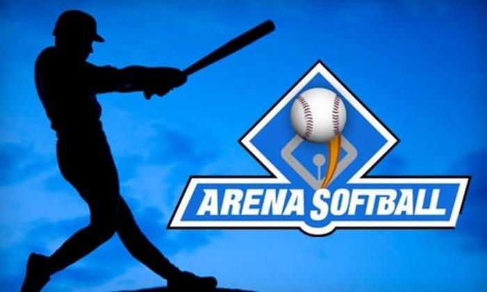 Arena Softball - Sacramento: $7 for a Ticket to Saturday Family Fun Night, Three Batting Tokens, and Food at Arena Softball