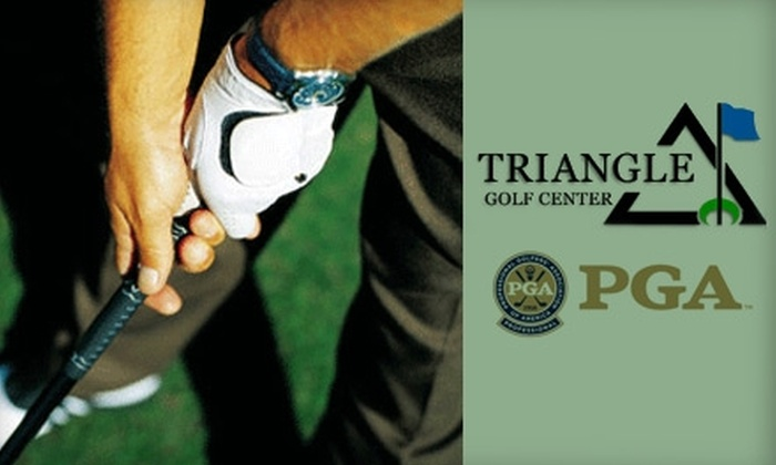 Triangle Golf Center - Umstead: $29 for a One-Hour Lesson, One Medium Bucket of Driving-Range Balls, and 15% Off Retail Products at Triangle Golf Center ($68 Value)
