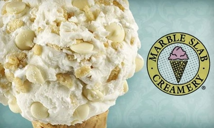 Marble Slab Creamery - Bay Area: $5 for $10 Worth of Ice Cream at Marble Slab Creamery