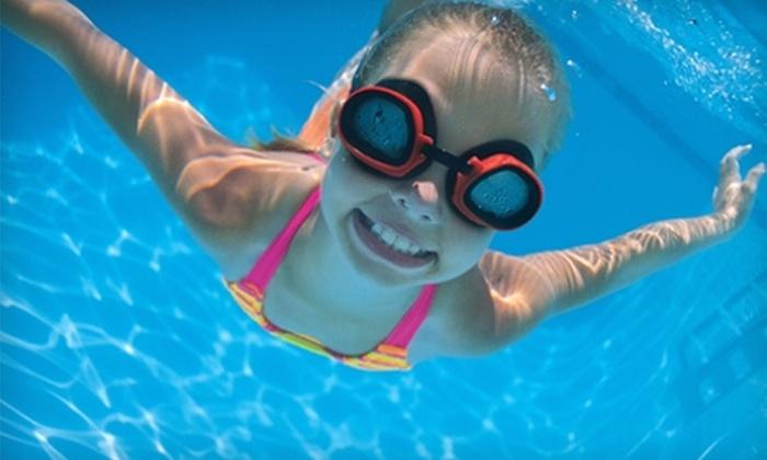 Tom Sawyer Pool - Downtown Rialto: 10-Entry Swim Pass or Swimming Lessons at Tom Sawyer Pool in Rialto. Three Options Available.