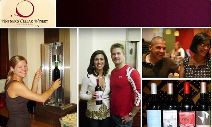 Vintners Cellar Winery - Chicago: $45 for 3 Custom-Labeled Bottles of Wine ($75 Value)