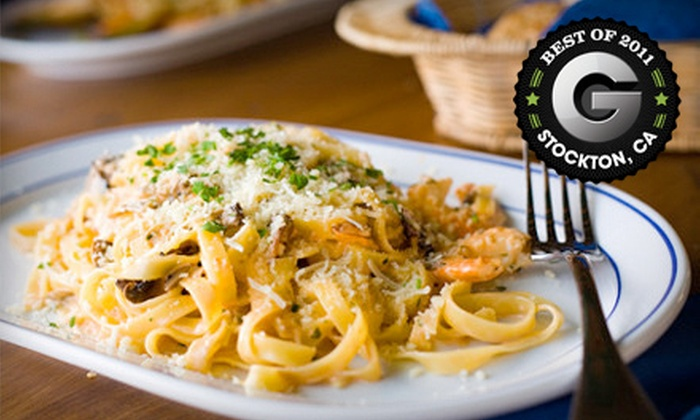 Strings Italian Cafe - Lodi: Dinner for Two with Appetizer and Dessert or $10 for $20 Worth of Italian Fare at Strings Italian Cafe in Lodi