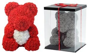 Peluche en roses St Valentin
