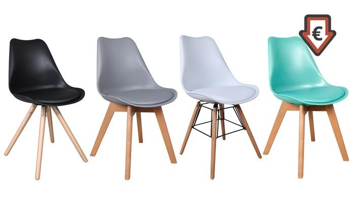 1, 2, 4 ou 6 chaises Design, 3 modèles au choix, dès 49.99€ (50% de réduction)