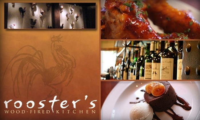 Rooster's Wood-Fired Kitchen - Barclay Downs: $20 for $40 Worth of Southern Gourmet Cuisine and Drinks at Rooster's Wood-Fired Kitchen