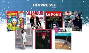 Viapresse: Un bon d'achat d'une valeur de 30 € au prix de 15 € à utiliser sur le site Viapresse