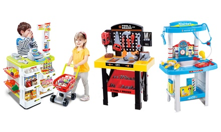 From $35 for a Kids' Tool Shed, Kitchen, Medical or Supermarket Playset (Don't Pay up to $149)