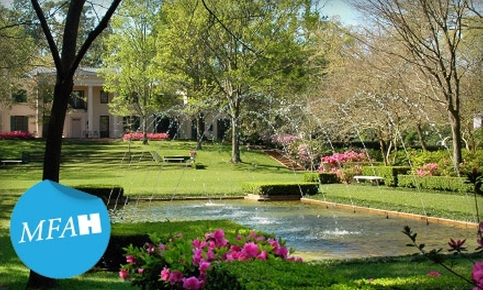 Bayou Bend Collection and Gardens - Washington Ave./ Memorial Park: $12 for Two Tickets to Sip and Stroll Tour of the Bayou Bend Collection and Gardens with Wine and Hors d'oeuvres ($20 Value)