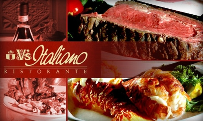 V's Italiano Ristorante - Independence: $12 for $25 Worth of Authentic Italian Cuisine and Drinks at V's Italiano Ristorante