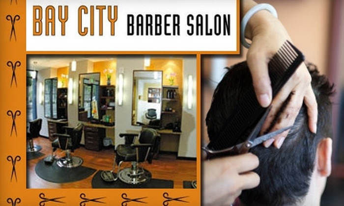 Bay City Barber Salon - Financial District: $30 Haircut and Shave at Bay City Barber Salon ($68 Value)
