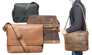 Packenger GmbH: Messenger Bag Vethorn aus Echtleder in der Farbe nach Wahl mit Navensgravur von Packenger inkl. Versand (64% sparen*)