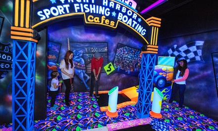Monterey Mirror Maze and Highway1 Golf Games & Grub (Up to 57% Off). 6 Options Available.