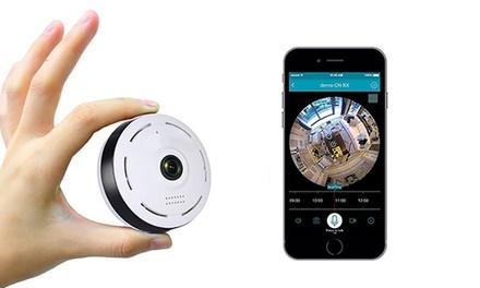 Caméras de sécurité Fisheye Wifi avec vision 360 degrés, avec ou sans carte SD