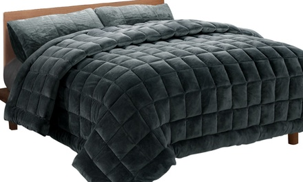 3Pc Winter Warmth Faux Mink Boxed Comforter Set: Single $49, Double $59, Queen $69, King $79, Super King $89