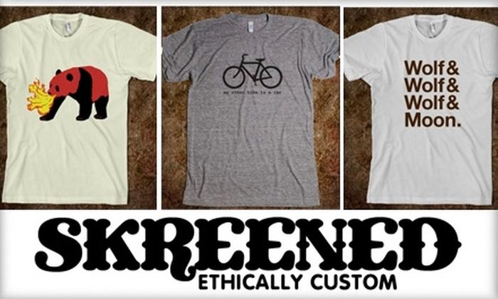 Skreened - San Jose: $15 for $30 Worth of Custom-Designed Clothing at Skreened