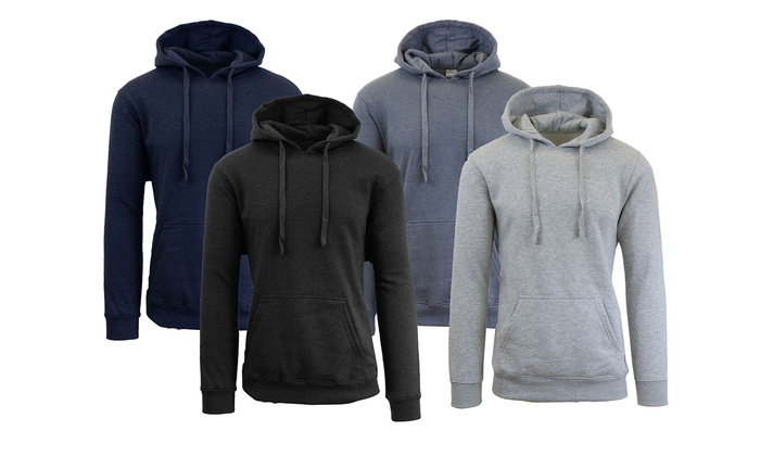 Men's Fleece-Lined Pullover Hoodie (2-Pack)