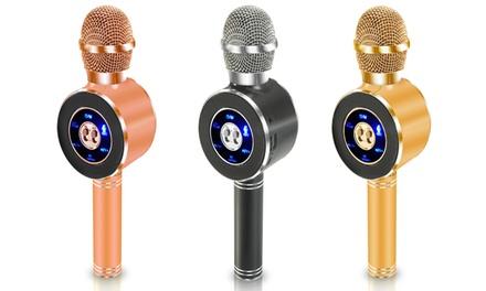 Micrófono karaoke inalámbrico con altavoz integrado
