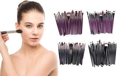 20-Piece Make-Up Brush Set: One ($12) or Two ($19)