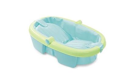 foldaway baby bathtub groupon. Black Bedroom Furniture Sets. Home Design Ideas