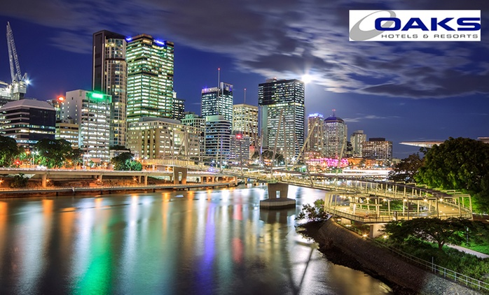 Brisbane: Two-Night Queensland Apartment Stay for Two or Up to Four at Oaks Lexicon Apartments