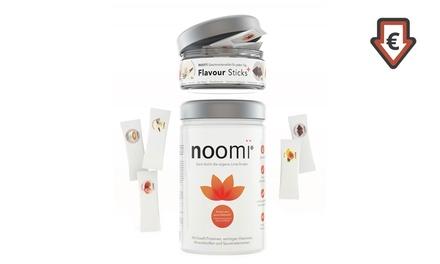 500 g noomi Wohlfühl- und Diät-Drink und 15 Flavour Stocks (43% sparen*)