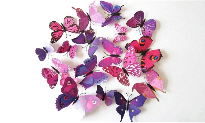 up to 70 on 3d butterfly magnet set 12 pc groupon goods