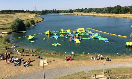 Water Park Entry and Wetsuit Hire for Up to Four at Box End Aquapark (25% Off)