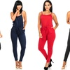 Juniors' Casual Knit Sleeveless Jumpsuit