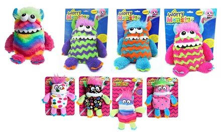 One, Two or Four Plush Worry Monsters in Choice of Size and Colour
