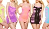 Seamless Mix-Match Layering Fishnet Mini Dresses