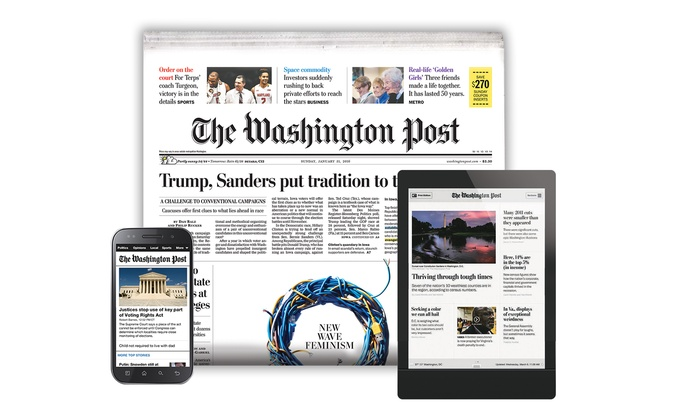 washington post delivery deals