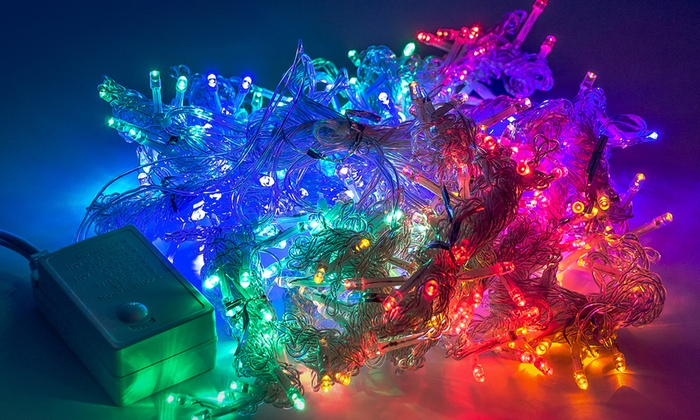 String Lights Vistaprint : LED Concepts Icicle Fairy Curtain String Lights Groupon