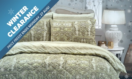 WINTER CLEARANCE: Park Avenue Pinsonic Quilted Quilt Cover Set: Queen $39, King $45 or Super King $55