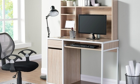 Mesa de ordenador modelo Taylor con estantería por 129€ Oferta en Groupon