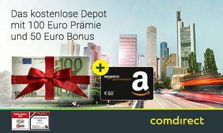 Kostenloses* Depot der comdirect bank mit bis zu 150 € Prämie**