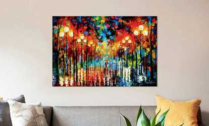 Groupon Icanvas Leonid Afremov Parks Gallery Wred Canvas Prints