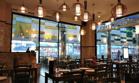 Bufet argentino servido a la mesa para 2 personas con entrantes, guarniciones y platos ilimitados en Che Restaurant
