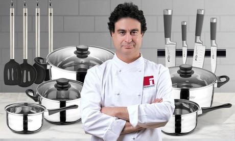 Batería de cocina San Ignacio de 8 piezas con opción a juego de cuchillos o utensilios