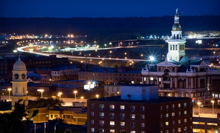 groupon daily deal - 1-Night Stay with Dining and Spa Credits at Hotel Julien in Dubuque, IA. Combine Up to 2 Nights.