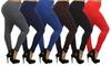Women's High-Waisted Plus-Size Leggings (6-Pack): Women's High-Waisted Plus-Size Leggings (6-Pack)