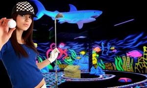 XXL Moonlight Minigolf: 1 Spiel XXL-Moonlight-Minigolf inkl. Softdrink für 2, 4 oder 6 Personen bei XXL Moonlight Minigolf (bis zu 54% sparen*)