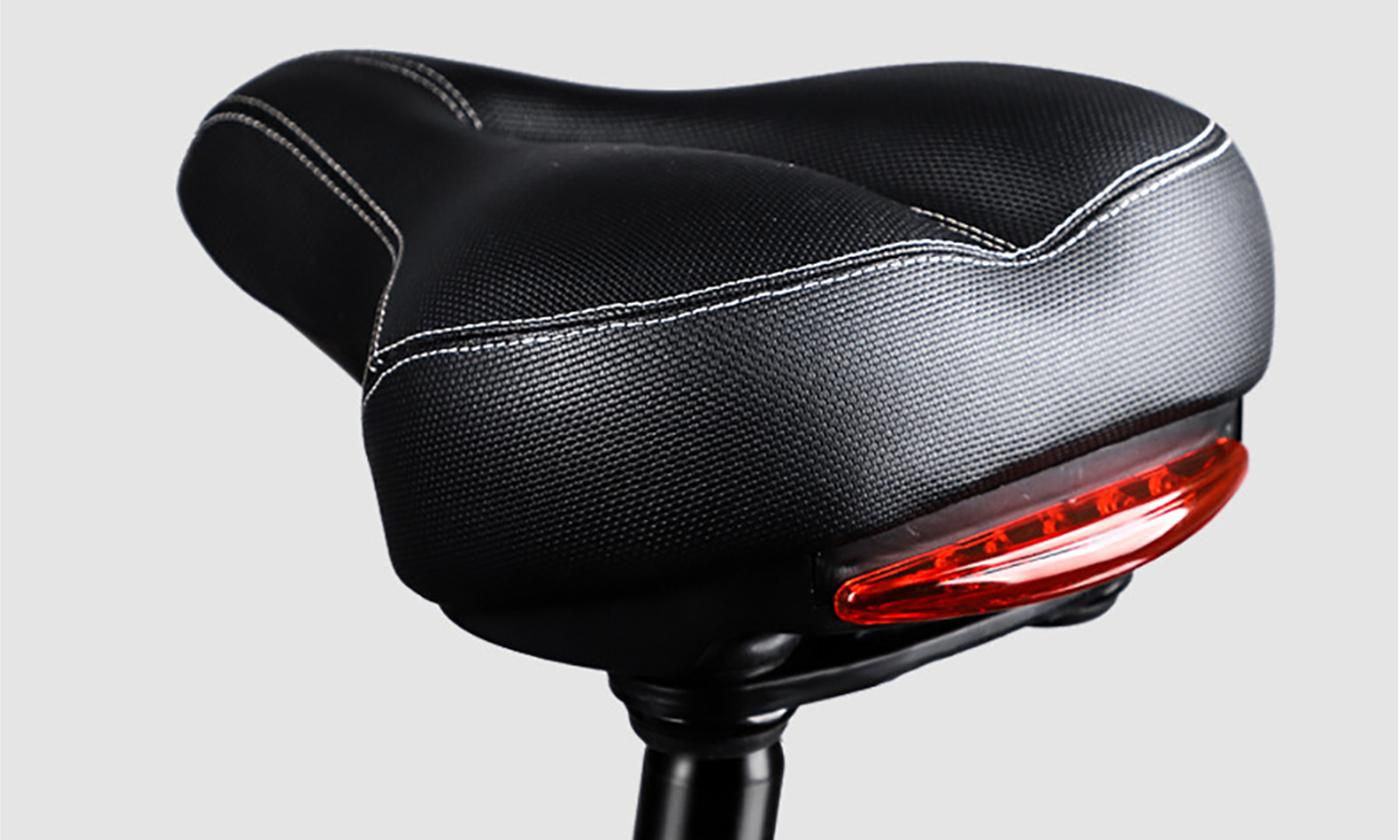 Bicycle Soft Cushion Saddle Seat with Taillight