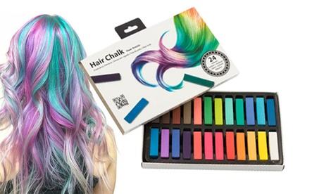 1 o 2 packs de 24 tizas para colorear el pelo temporalmente