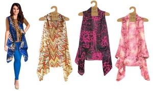 Women's One-Size Sheer Printed Vest