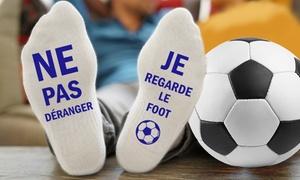 Chaussettes cadeau football