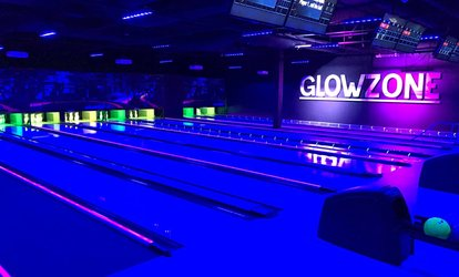 image for Two Hours of <strong>Bowling</strong> with Shoe Rental for Two, Four, or Six People at Glowzone: Huntington Beach (Up to 68% Off)