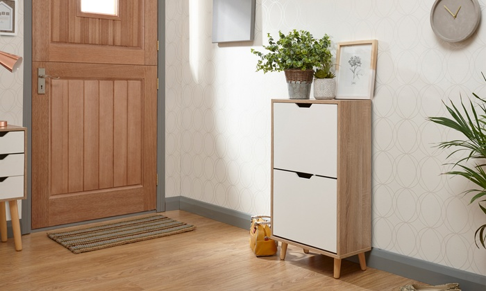 Scandi Two- or Three-Tier Shoe Cabinet