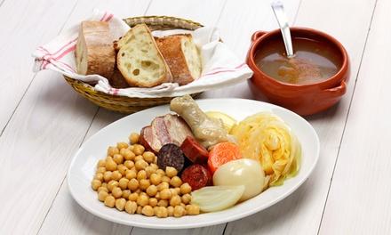 Menú de cocido castellano completo para dos o cuatro con postre y botella de vino de la casa desde 14,90 € en El Encinar
